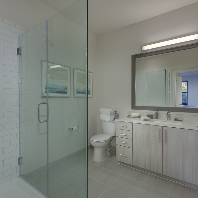 Fenwick Apartments - Modern Bathroom with White Layouts